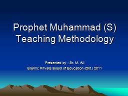 Prophet Muhammad (S) Teaching Methodology PowerPoint PPT Presentation