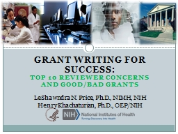 GRANT WRITING FOR SUCCESS: