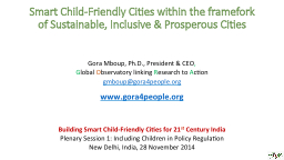 Smart Child-Friendly Cities within the framefork