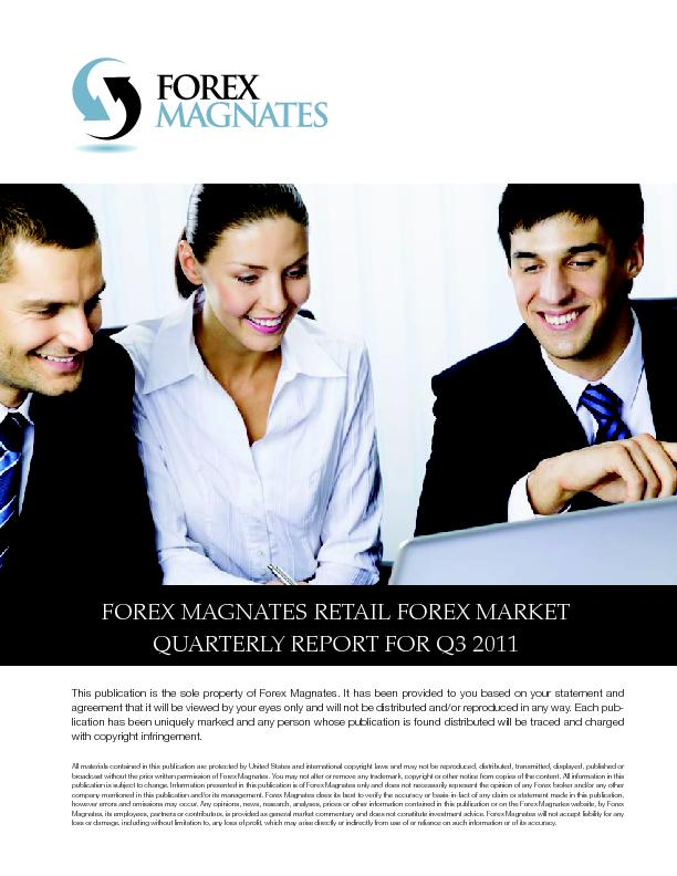 FOREX MAGNATES RETAIL FOREX MARKET QUARTERLY REPORT FOR Q3 2011 ...