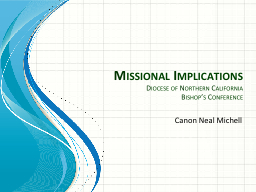 Missional Implications