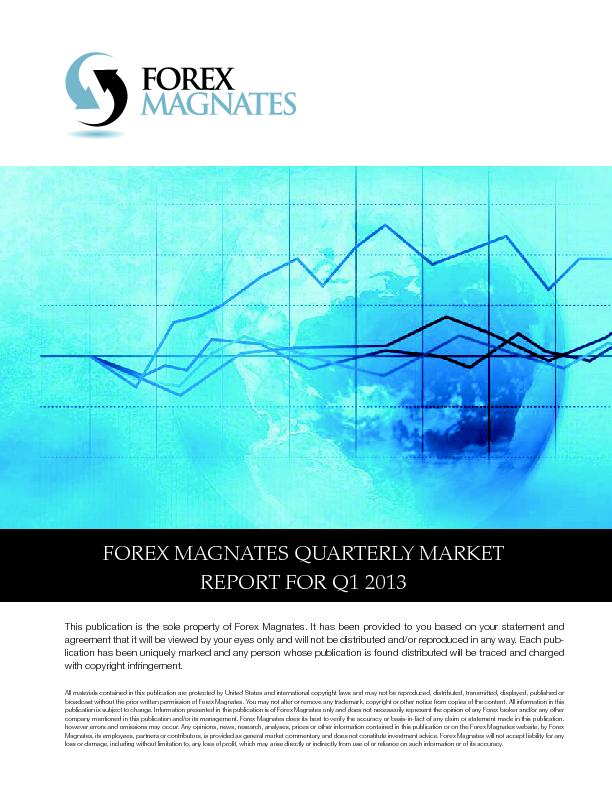 Forex magnates quarterly report