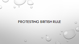 Protesting British Rule
