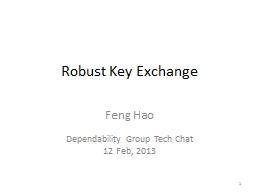 Robust Key Exchange