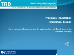 Provisional Registration PowerPoint PPT Presentation