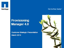 Provisioning Manager