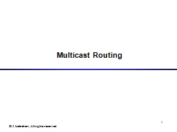 1 Multicast Routing