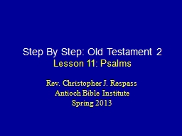 Step By Step: Old Testament 2