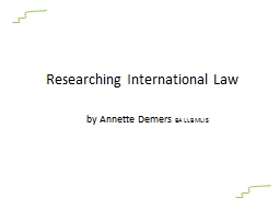 Researching International Law PowerPoint PPT Presentation