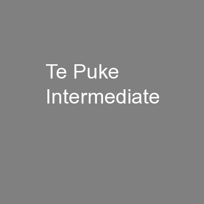 Te Puke Intermediate