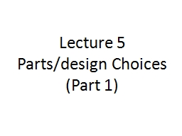 Lecture 5 PowerPoint PPT Presentation