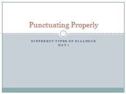 Different Types of Dialogue PowerPoint PPT Presentation