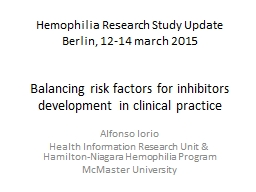 Balancing risk factors for inhibitors development in clinic