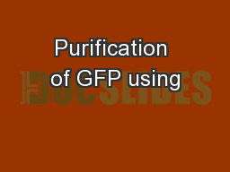 Purification of GFP using