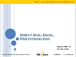 Direct Mail, Email, PowerPoint PPT Presentation