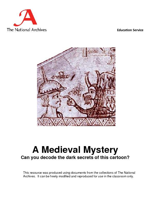 A Medieval Mystery Can you decode the dark secrets of this cartoon?  T