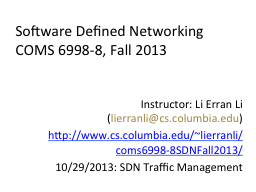 Software Defined Networking PowerPoint PPT Presentation