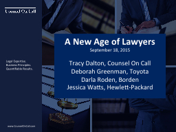 A New Age of Lawyers