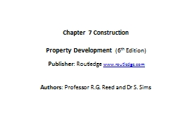 Chapter 7 PowerPoint PPT Presentation