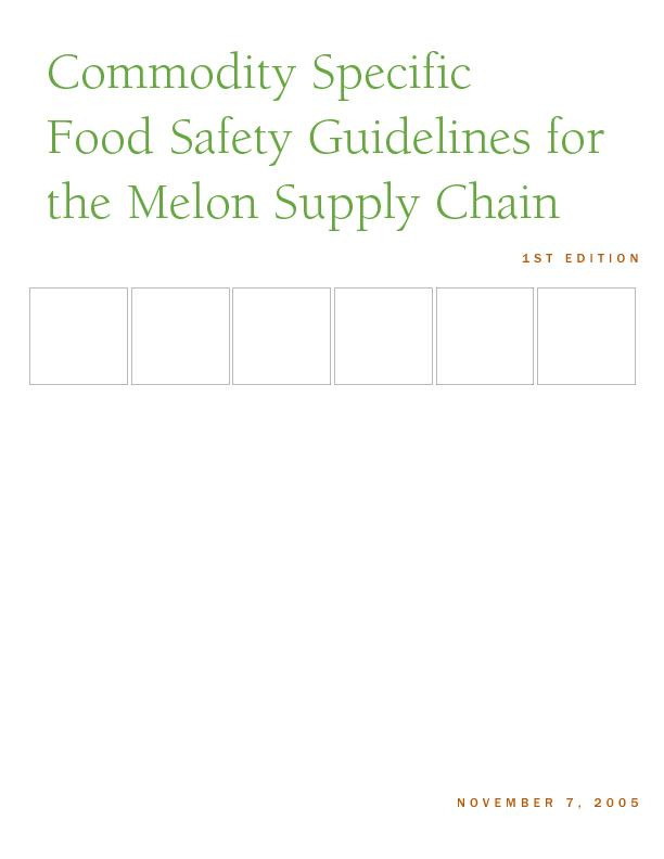 COMMODITY SPECIFIC FOOD SAFETY GUIDELINES