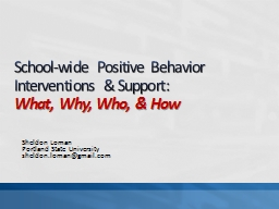 School-wide Positive Behavior Interventions & Support: