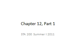 Chapter 12, Part 1
