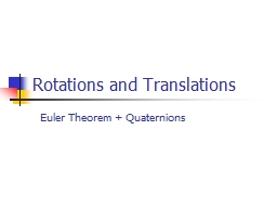 Rotations and Translations PowerPoint PPT Presentation