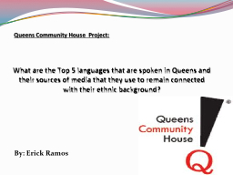 What are the Top 5 languages that are spoken in Queens and PowerPoint PPT Presentation