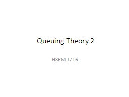 Queuing Theory 2