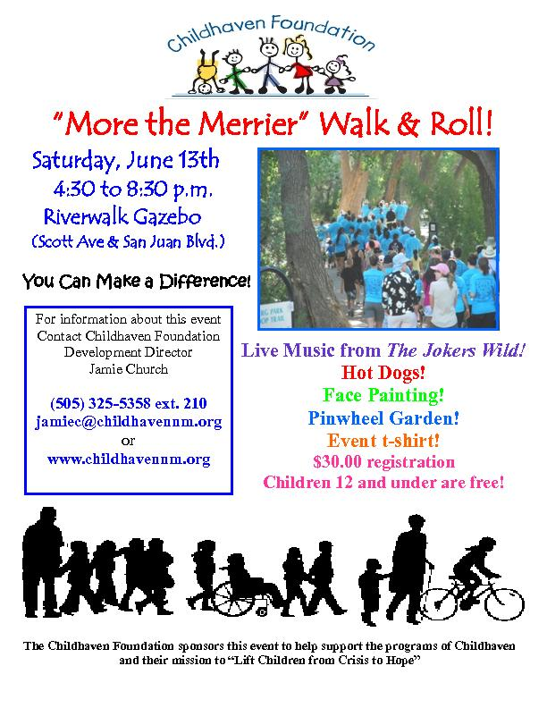 """More the Merrier"" Walk & Roll!"