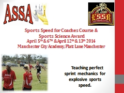 Sports Speed for Coaches Course &