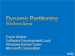Dynamic Partitioning PowerPoint PPT Presentation
