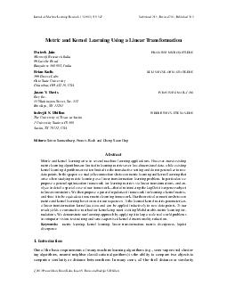 JournalofMachineLearningResearch13(2012)519-547Submitted2/11;Revised7/