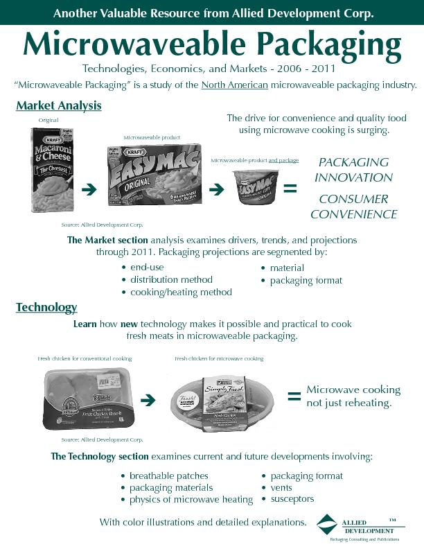 Microwaveable Packaging Technologies, Economics, and