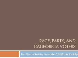 Race, party, and California voters