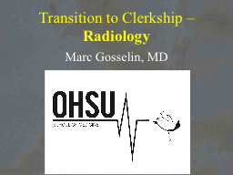 Transition to Clerkship –