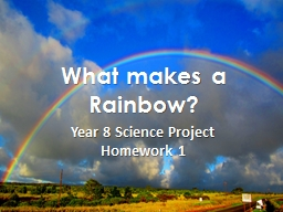 What makes a Rainbow? PowerPoint PPT Presentation