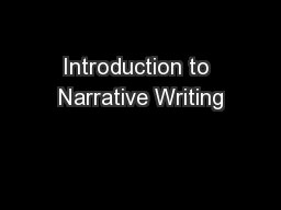 Introduction to narrative essay