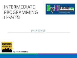 INTERMEDIATE PROGRAMMING LESSON PowerPoint PPT Presentation