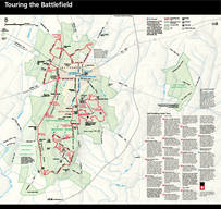 Touring the Battleeld The complete mile auto tour starts at the visitor cen ter and includes the following  tour stops the Barlow Knoll Loop and the Historic Down town Gettysburg Tour