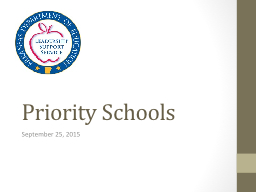 Priority Schools PowerPoint PPT Presentation