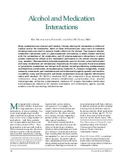 Alcohol and Medication Interactions Ron Weathermon Pharm PDF document - DocSlides