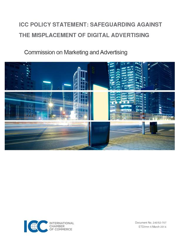 ICC FRAMEWORK FOR RESPONSIBLE MARKETING COMMUNICATIONS OF ALCOHOL ...