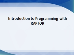 Introduction to Programming with