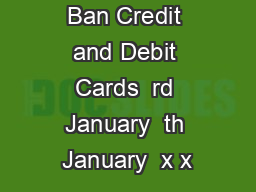 offer on Axis Ban Credit and Debit Cards  rd January  th January  x x PowerPoint PPT Presentation