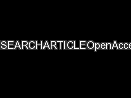 RESEARCHARTICLEOpenAccess