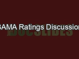 BAMA Ratings Discussion