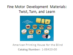 Fine Motor Development Materials: PowerPoint PPT Presentation