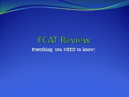 FCAT Review PowerPoint PPT Presentation