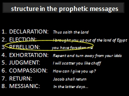 STRUCTURES OF THE PROPHETS